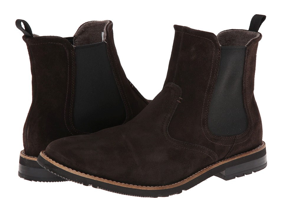 Rockport - Ledge Hill 2 Chelsea Boot (Dark Bitter Chocolate Suede) Men's Boots