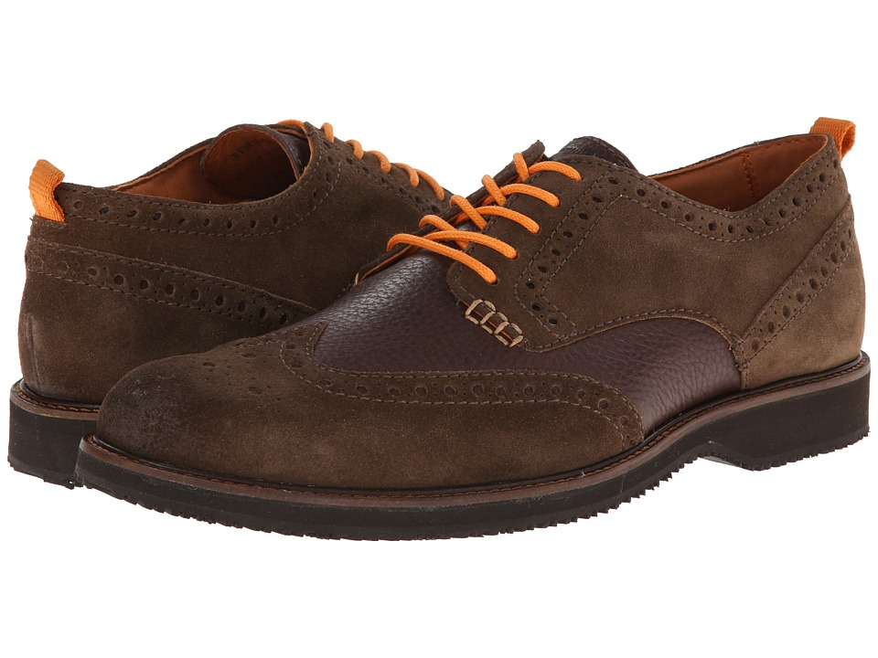 Tommy Bahama - Elliot Wingtip (Brown) Men's Lace Up Wing Tip Shoes