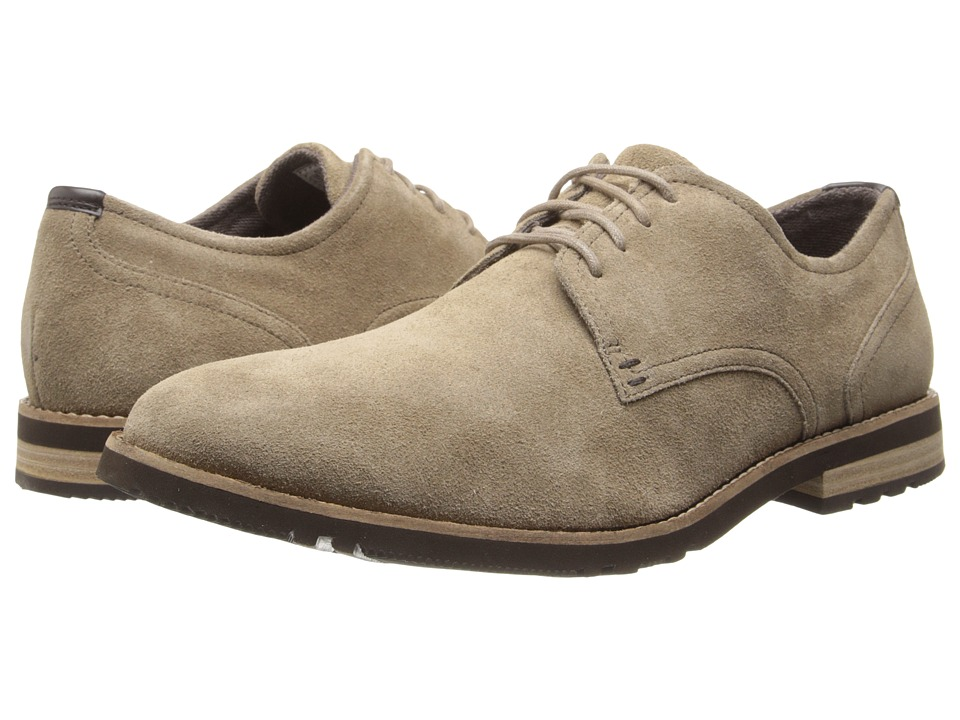 Rockport Ledge Hill 2 Plain Toe Oxford (New Vicuna Suede) Men