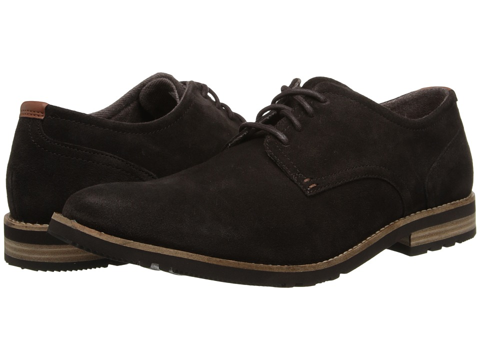 Rockport - Ledge Hill 2 Plain Toe Oxford (Dark Bitter Chocolate/Suede) Men's Lace up casual Shoes