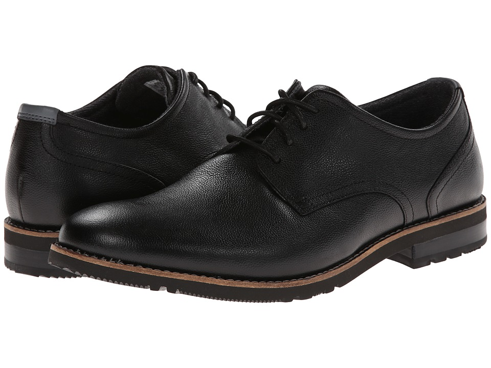 Rockport - Ledge Hill 2 Plain Toe Oxford (Black Leather) Men's Lace up casual Shoes
