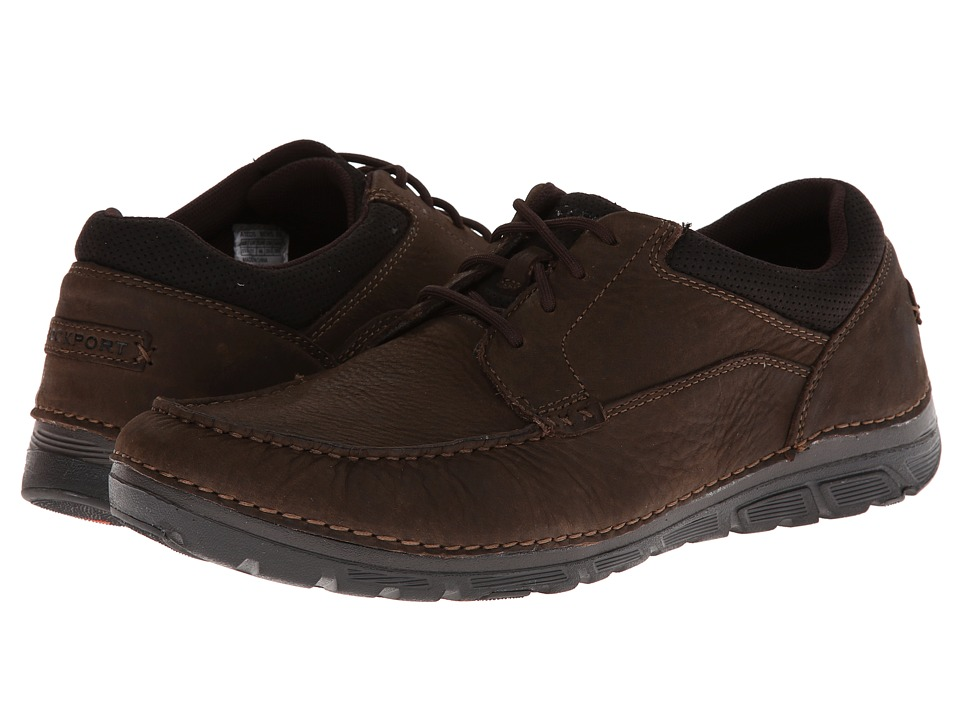 Rockport - RocSports Lite ZoneCush Moc Toe Oxford (Dark Brown) Men's Lace up casual Shoes