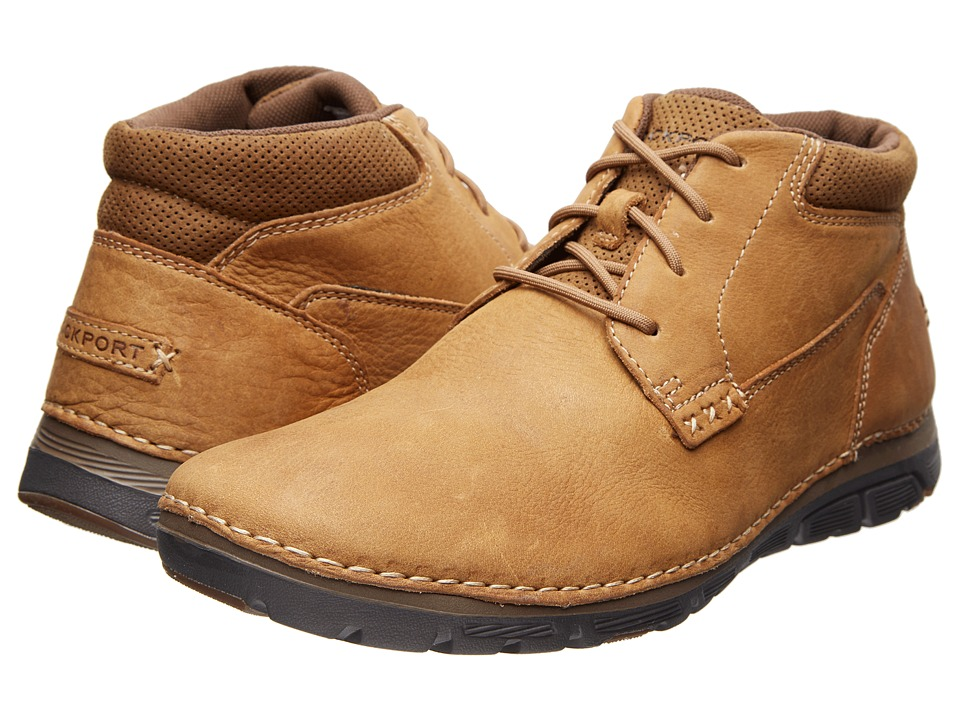 Rockport - RocSports Lite ZoneCush Plain Toe Boot (Tan) Men's Boots
