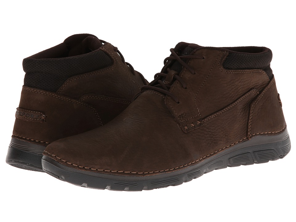 Rockport - RocSports Lite ZoneCush Plain Toe Boot (Dark Brown) Men's Boots