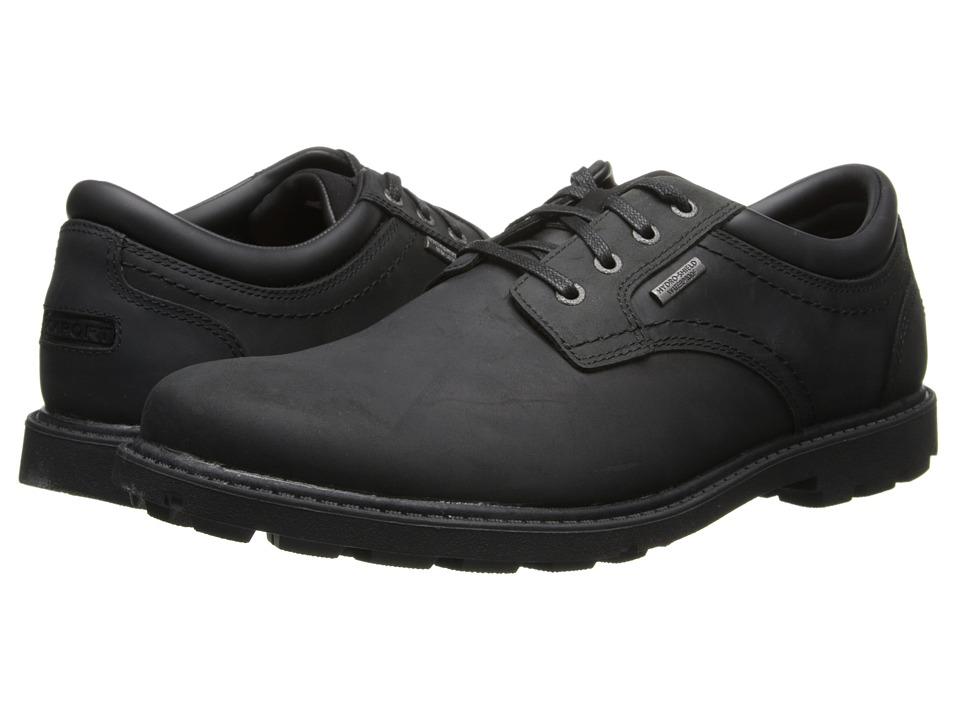 Rockport Rugged Bucks Waterproof Plaintoe (Black II) Men