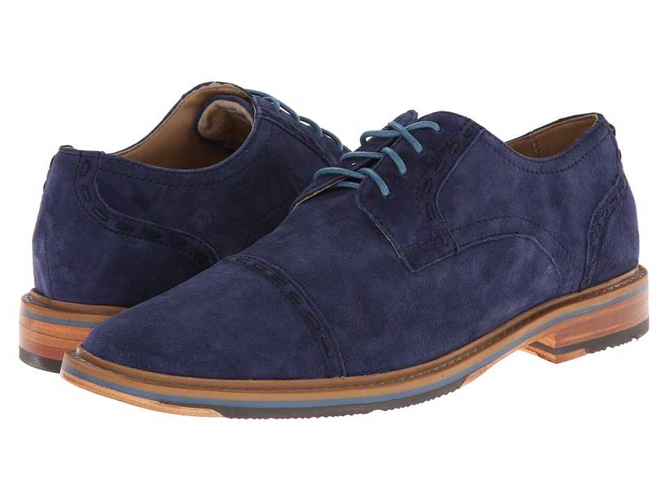 Rockport Parker Hill Cap Toe Oxford (Peacoat Nubuc) Men