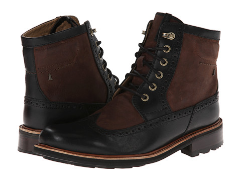 Rockport - Break Trail Too Wingtip Tall Boot - 6 Eye (Chocolate Brown Fabric/Black) Men's Boots