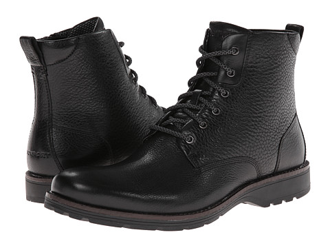 Rockport - Total Motion Street Plain Toe Boot (Black) Men's Boots