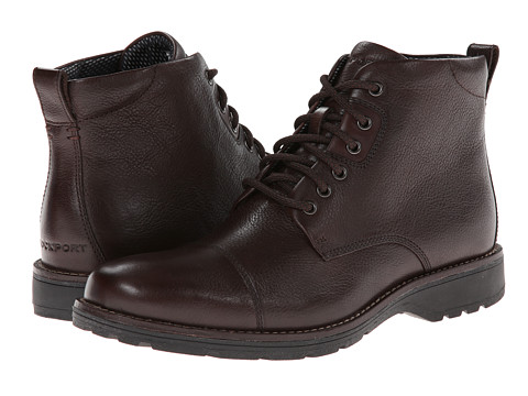 Rockport - Total Motion Street Cap Toe Boot - 6 Eyelet (Coach) Men