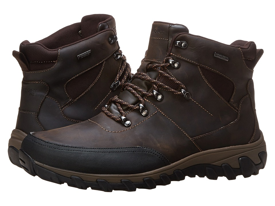 Rockport - Cold Springs Plus Mudguard Boot - Speed Lace (Dark Brown Oiled Leather) Men's Boots