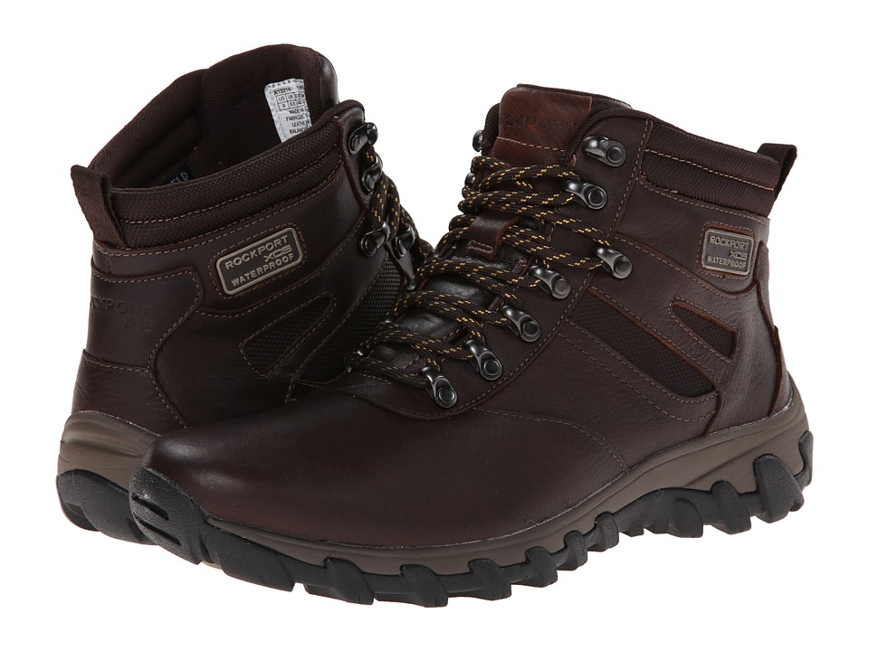 Rockport - Cold Springs Plus Plain Toe Boot - 7 Eye (Chocolate Leather Smooth) Men's Boots