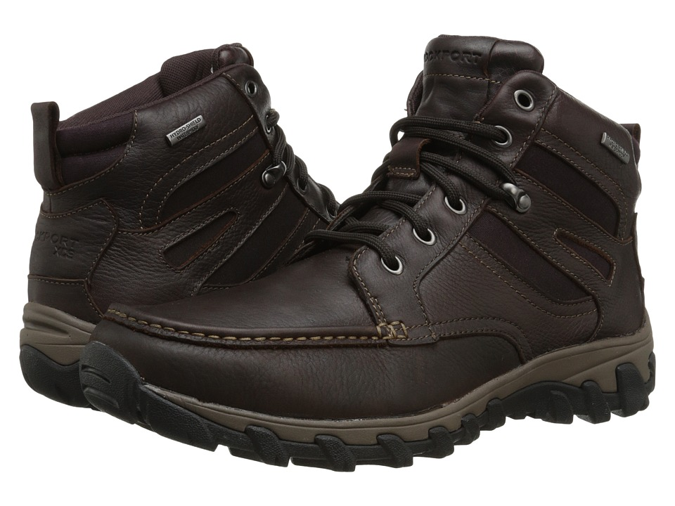 Rockport Cold Springs Plus Mocc Toe Boot High 7 Eyelets (Dark Brown Tumbled Leather) Men