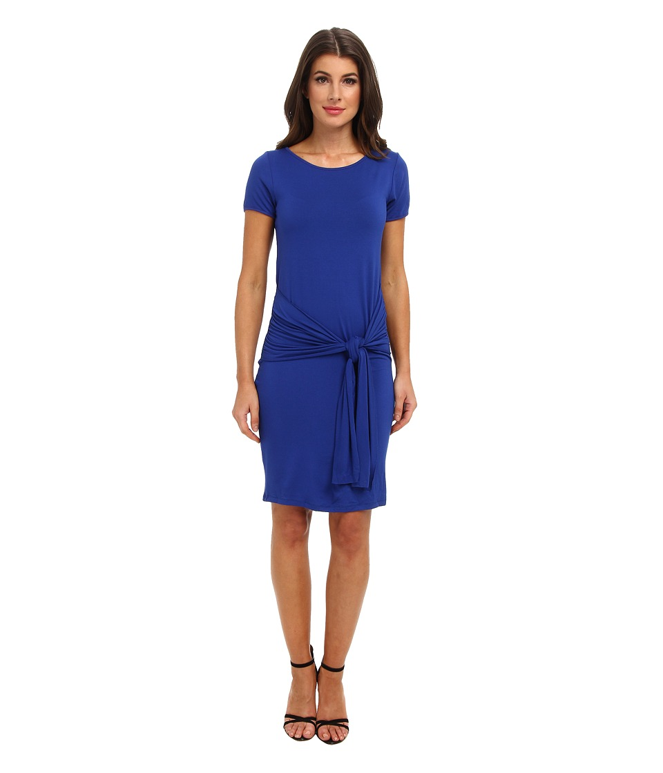 Christin Michaels - Sophia Drape Hip Dress (Cobalt/Cobalt/Academy) Women's Dress