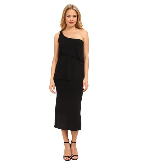 Christin Michaels - Sierra Tiered One Shoulder Dress (Black) Women's Dress