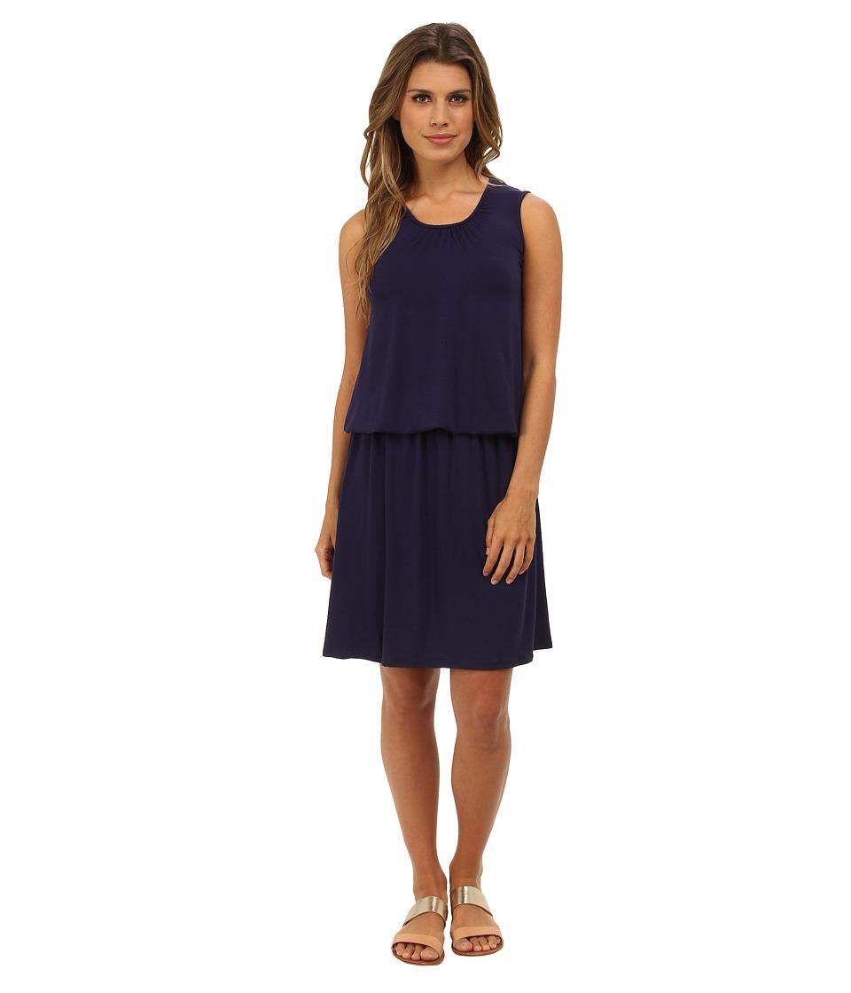 Christin Michaels Breana Dropwaist Sleeveless Dress (Navy) Women