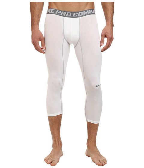 Nike - Pro Combat Core Compression 3/4 Tight (White/Cool Grey) Men