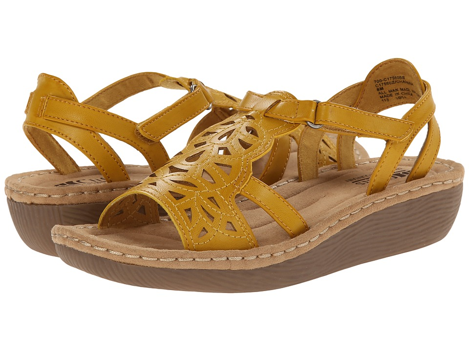 Cliffs by White Mountain - Chambray (Yellow) Women's Wedge Shoes