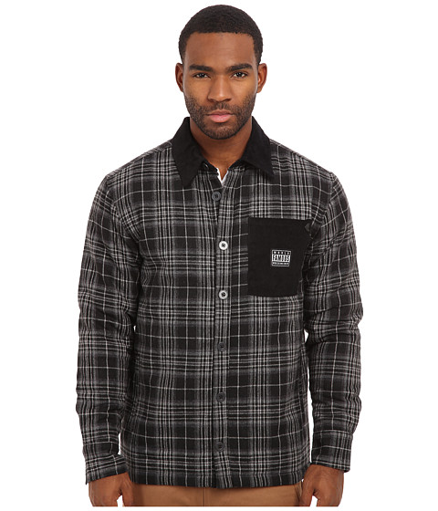 Famous Stars & Straps - Nightfall Flannel Jacket (Black) Men's Jacket