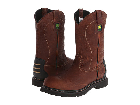 John Deere - WCT 11 Pull-On (Brown) Men's Work Pull-on Boots