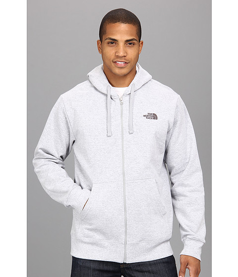 The North Face - Logo Full Zip (Heather Grey/Graphite Grey) Men's Sweatshirt