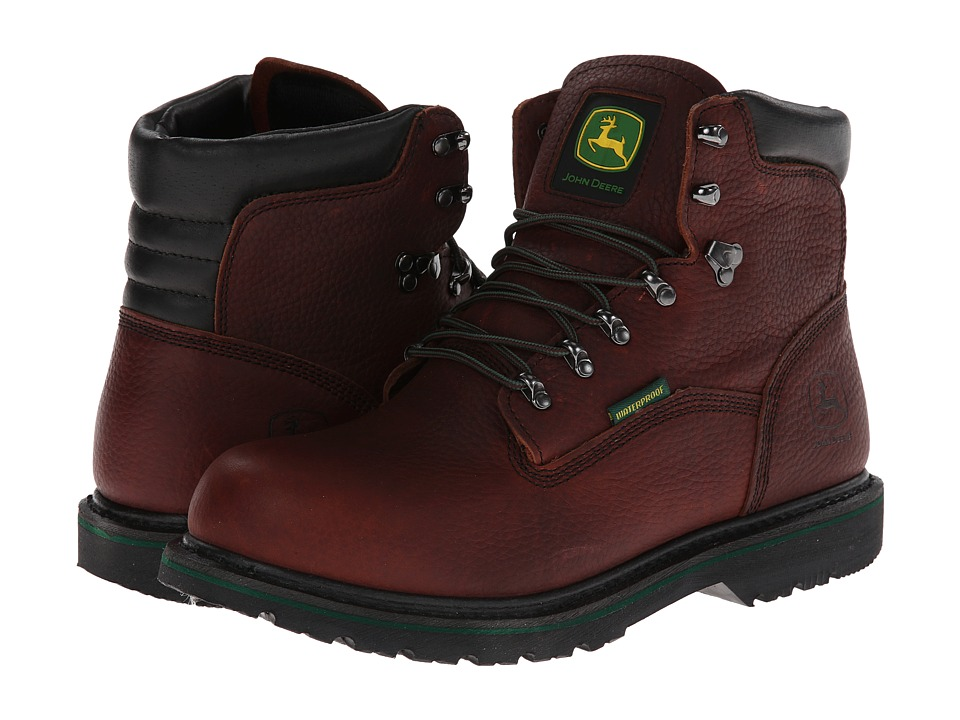John Deere - 6 Waterproof Lace-Up (Dark Brown) Men's Work Lace-up Boots