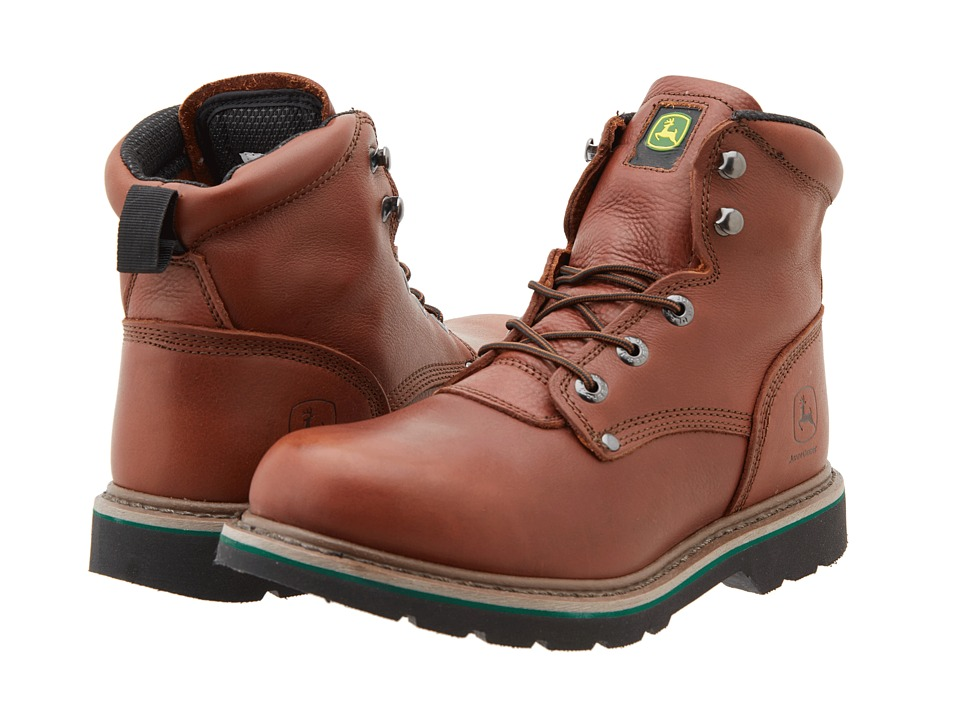 John Deere - 6 Lace-Up (Brown Walnut) Men's Work Lace-up Boots