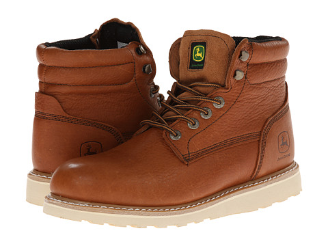 John Deere - 6 Lace-Up Wedge Outsole (Golden Tan) Men's Work Lace-up Boots