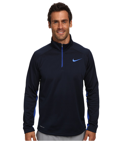 Nike - KO 1/4 Zip Top (Obsidian/Game Royal/Game Royal) Men's Long Sleeve Pullover