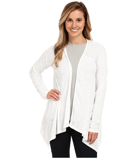 Prana - Julz Burnout Wrap (White Posy) Women's Sweater