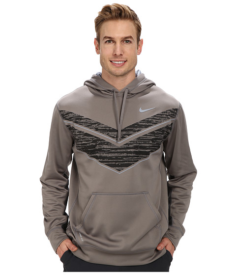 Nike - Chevron KO Hoodie (Light Ash/Magnet Grey/Dark Ash) Men's Long Sleeve Pullover