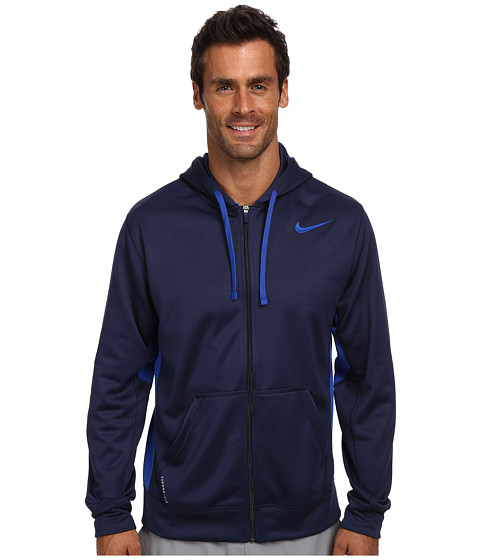 Nike - KO Full-Zip Hoodie 2.0 (Midnight Navy/Game Royal/Game Royal) Men's Sweatshirt
