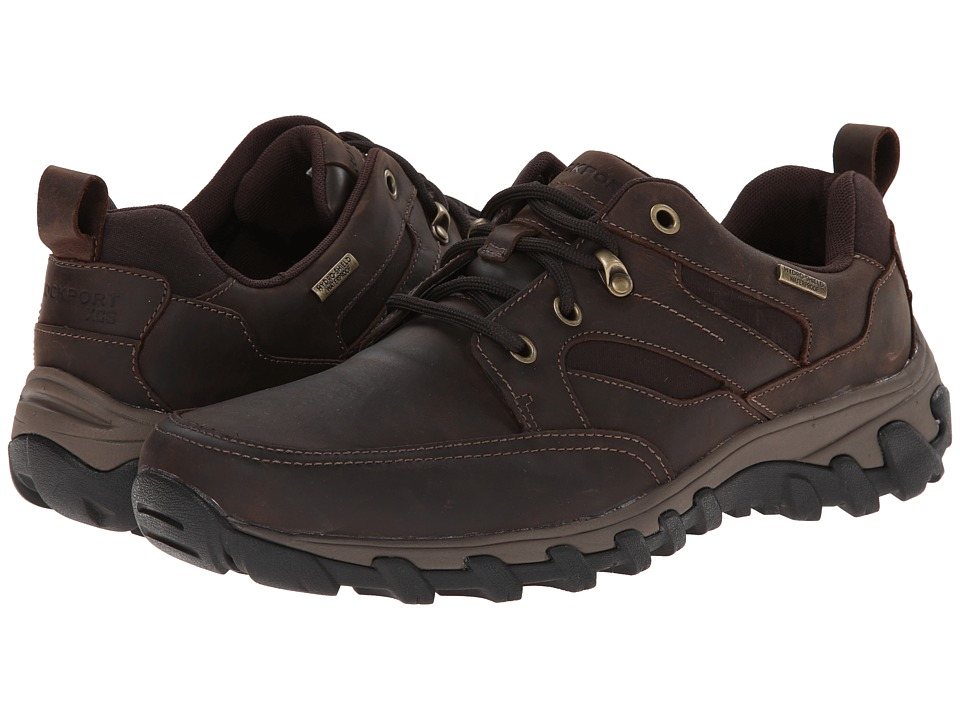 Rockport - Cold Springs Plus Mudguard Oxford (Dark Brown Oiled Nubuc) Men's Lace up casual Shoes