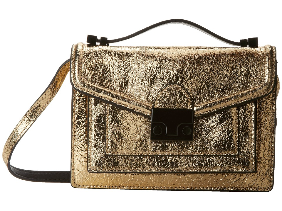 Loeffler Randall - Mini Rider (Gold Vintage Mirror Leather) Satchel Handbags