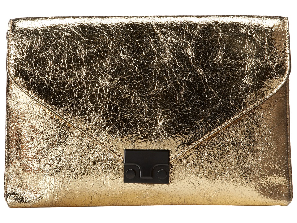 Loeffler Randall - Lock Clutch (Gold Vintage Mirror Leather) Clutch Handbags