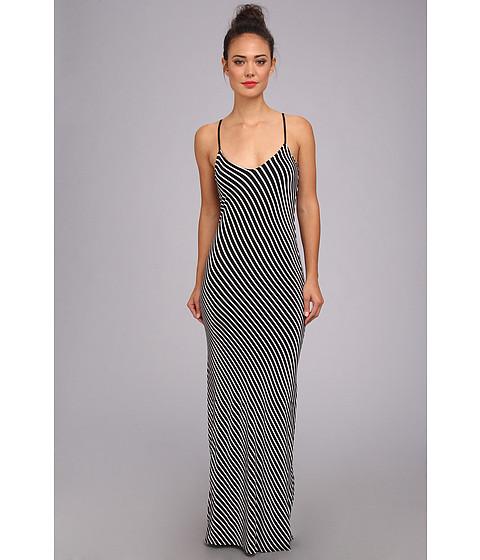 Brigitte Bailey - Breana Stripe Maxi Dress (Black/White) Women