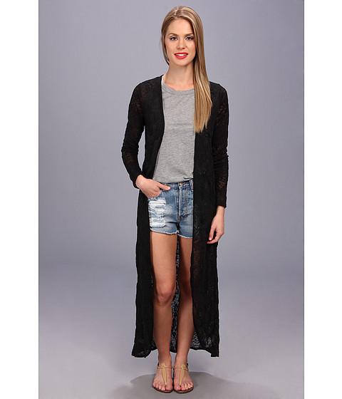Brigitte Bailey - Beverly Maxi Cardigan (Black) Women's Sweater