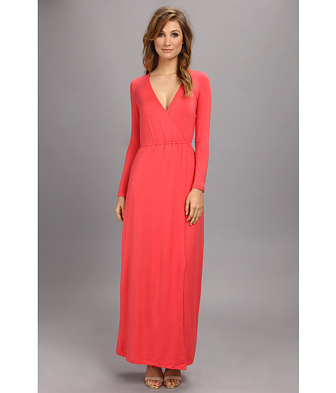 Brigitte Bailey - Jamie Faux Wrap Dress (Coral) Women's Dress