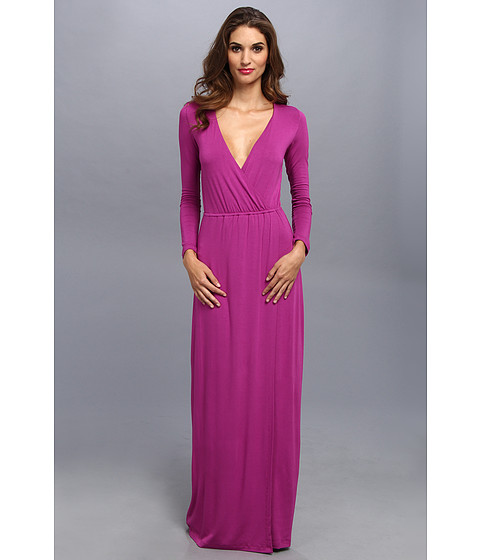 Brigitte Bailey - Jamie Faux Wrap Dress (Magenta) Women's Dress