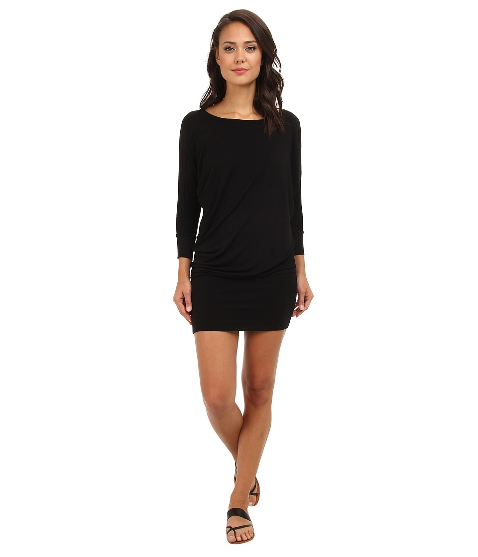 Culture Phit - Millie 3/4 Sleeve T-Shirt Dress (Black) Women's Dress