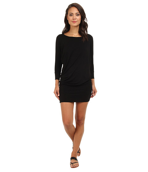 Culture Phit - Millie 3/4 Sleeve T-Shirt Dress (Black) Women