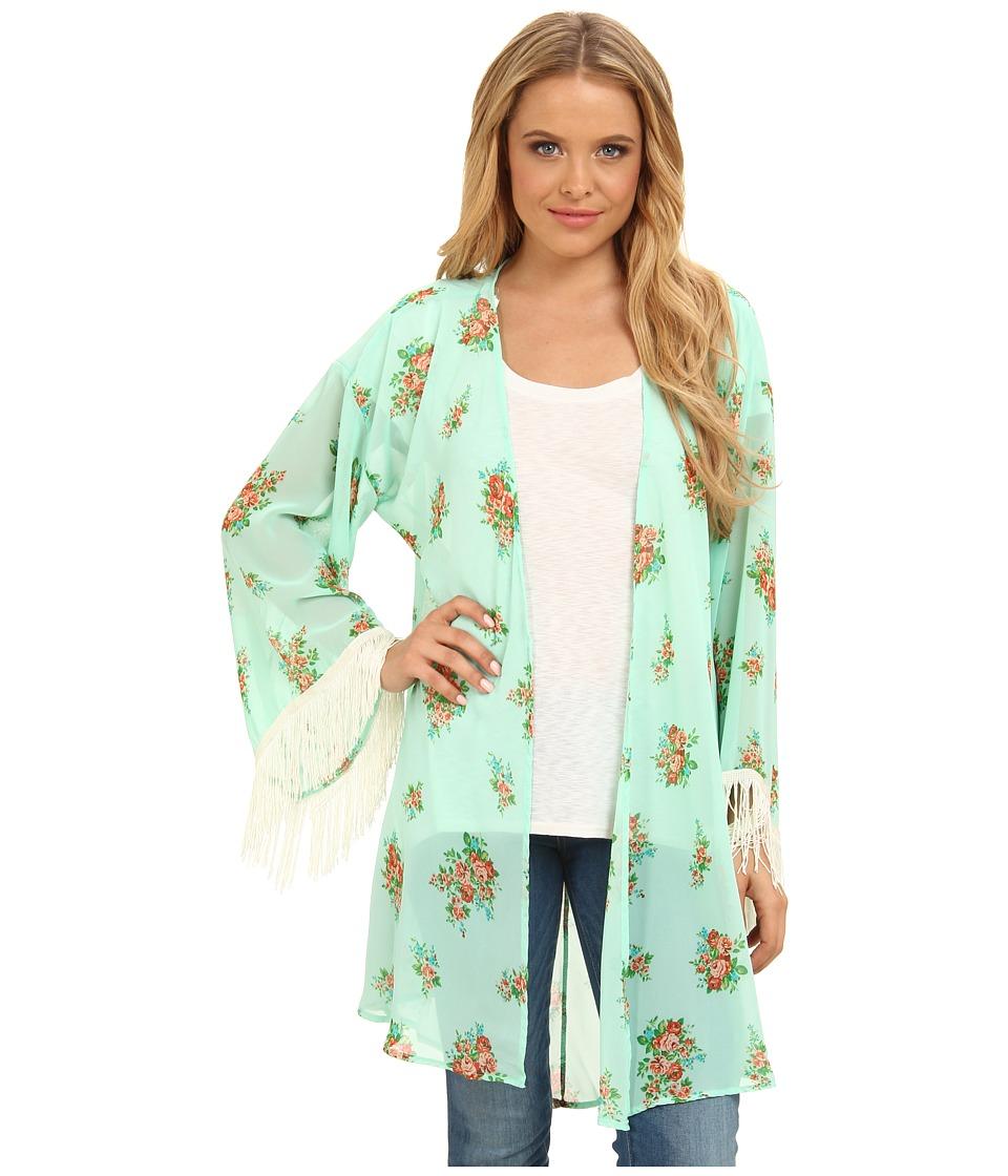 Gabriella Rocha - Lucy Floral Print Kimono (Mint/Pink) Women