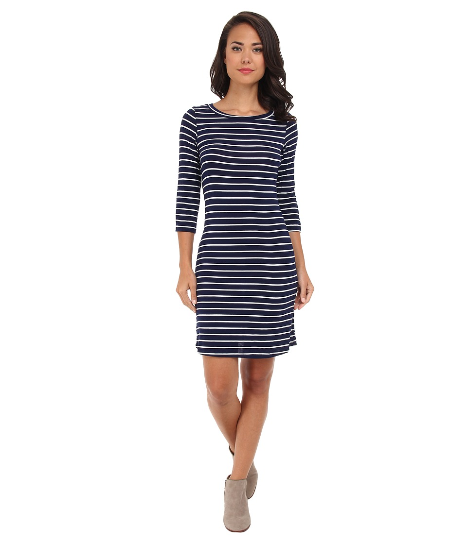 Gabriella Rocha - Laylah Stripe 3/4 Sleeve Dress (Navy/White) Women's Dress