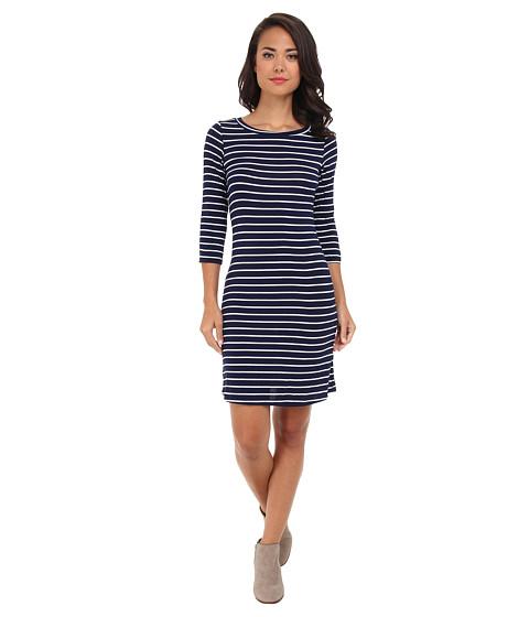 Gabriella Rocha - Laylah Stripe 3/4 Sleeve Dress (Navy/White) Women