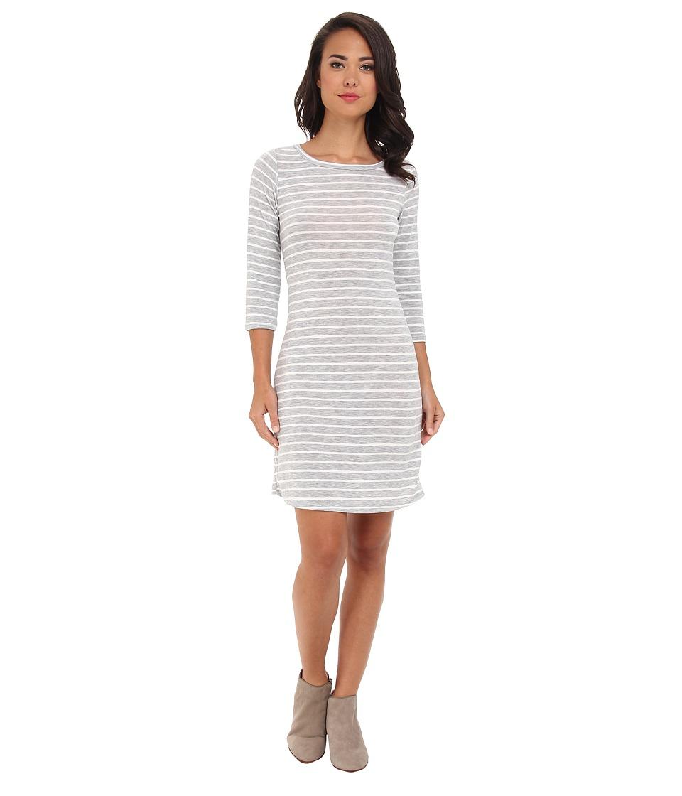 Gabriella Rocha - Laylah Stripe 3/4 Sleeve Dress (Grey/White) Women