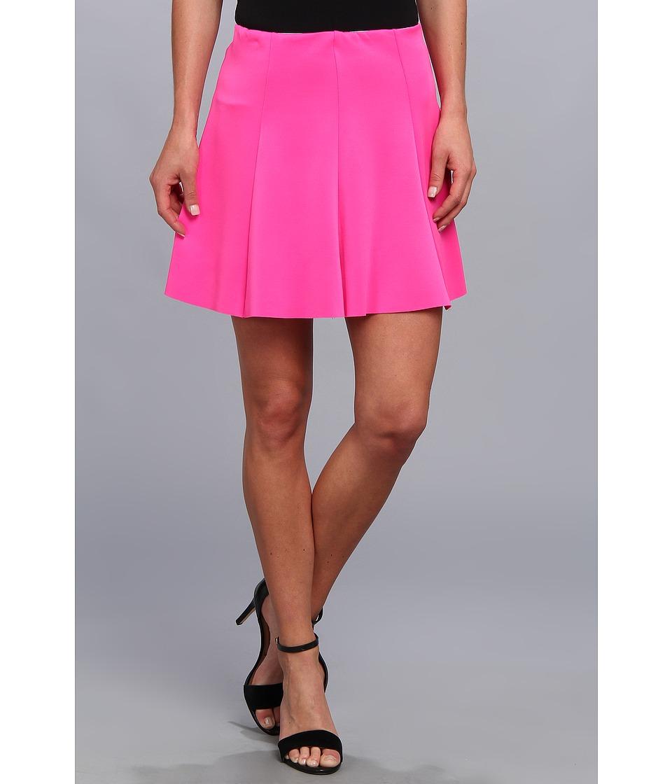 Gabriella Rocha - Phoebe Scuba Skater Skirt (Neon Pink) Women's Skirt
