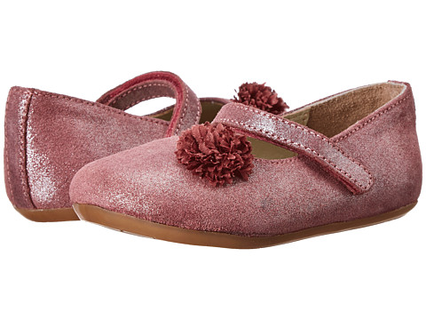 Pazitos - Flower MJ (Toddler) (Burgundy) Girls Shoes