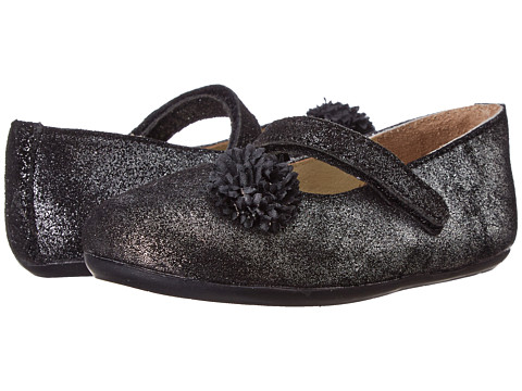 Pazitos - Flower MJ (Toddler) (Charcoal) Girls Shoes