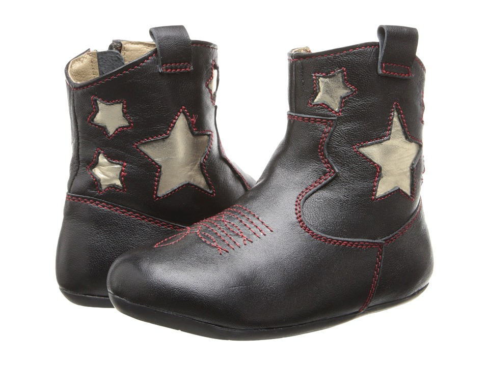 Pazitos - Twinkle Bootie (Toddler) (Black) Girls Shoes