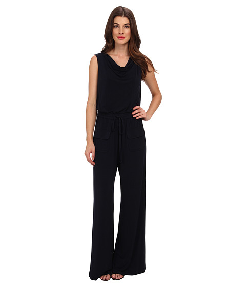 Vince Camuto - Jersey Cowl Neck Jumpsuit (Navy) Women's Jumpsuit & Rompers One Piece