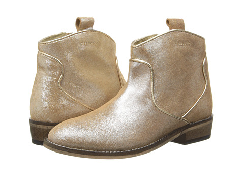 Pazitos - Binded West Bootie (Little Kid) (Gold Met) Girls Shoes